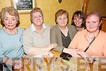 Poker Night - Organisers and committee members enjoying the Poker Night in aid of Ardfert Branch of Kerry Hospice held in McElligot's Bar Ardfert on Friday night were l/r Judy Leahy, Peggy Geary, Mary O'Halloran, Brenda O'Connor and Kathleen O'Connor................................................................................................................................................................................................................................................................................................. ............