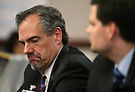 Nevada Superintendent Dale Erquiaga testifies in a committee hearing at the Legislative Building, in Carson City, Nev., on Wednesday, Feb. 18, 2015. <br /> Photo by Cathleen Allison