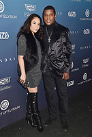 LOS ANGELES, CA - JANUARY 05: Nicole Pantenburg (L) and Kenny 'Babyface' Edmonds attend Michael Muller's HEAVEN, presented by The Art of Elysium at a private venue on January 5, 2019 in Los Angeles, California.<br /> CAP/ROT/TM<br /> ©TM/ROT/Capital Pictures