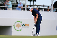 Tyrrell Hatton (ENG) on the 16th green during the 1st round of the Waste Management Phoenix Open, TPC Scottsdale, Scottsdale, Arisona, USA. 31/01/2019.<br /> Picture Fran Caffrey / Golffile.ie<br /> <br /> All photo usage must carry mandatory copyright credit (&copy; Golffile | Fran Caffrey)