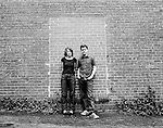 July 13, 2009. Durham, NC.. Merge Records founders, Mac McCaughan and Laura Ballance photographed near their office in downtown Durham.
