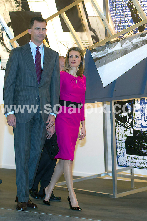 **ALL ROUND PICTURES FROM SOLARPIX.COM**                                             **WORLDWIDE SYNDICATION RIGHTS EXCEPT SPAIN - NO SYNDICATION IN SPAIN**                                                                                  Caption: Spanish Princes of Asturias Felipe and Letizia Ortiz inaugurates the  Contemporary Art Fair  in Madrid.                                                                          This pic:  Felipe and Letizia                                                                                             JOB REF: 14483       DMS       DATE: 16.02.2012                                                           **MUST CREDIT SOLARPIX.COM OR DOUBLE FEE WILL BE CHARGED**                                                                      **MUST AGREE FEE BEFORE ONLINE USAGE**                               **CALL US ON: +34 952 811 768 or LOW RATE FROM UK 0844 617 7637**