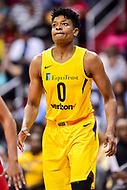 Washington, DC - June 15, 2018: Los Angeles Sparks guard Alana Beard (0) during game between the Washington Mystics and Los Angeles Sparks at the Capital One Arena in Washington, DC. (Photo by Phil Peters/Media Images International)