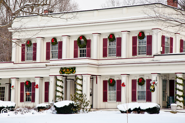 Christmas decorations at an Inn in Arlington, VT