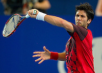 FERNANDO VERDASCO (ESP) against RICHARD GASQUET (FRA) in the group stage of the HOPMAN CUP. France beat Spain 6-2 6-4..05/01/2012, 5th January 2012, 05.01.2012..The HOPMAN CUP, Burswood Dome, Perth, Western Australia, Australia.@AMN IMAGES, Frey, Advantage Media Network, 30, Cleveland Street, London, W1T 4JD .Tel - +44 208 947 0100..email - mfrey@advantagemedianet.com..www.amnimages.photoshelter.com.