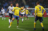Leeds United's Kalvin Phillips chests the ball down<br /> <br /> Photographer Andrew Kearns/CameraSport<br /> <br /> The EFL Sky Bet Championship - Bolton Wanderers v Leeds United - Saturday 15th December 2018 - University of Bolton Stadium - Bolton<br /> <br /> World Copyright &copy; 2018 CameraSport. All rights reserved. 43 Linden Ave. Countesthorpe. Leicester. England. LE8 5PG - Tel: +44 (0) 116 277 4147 - admin@camerasport.com - www.camerasport.com