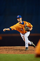 St. Lucie Mets relief pitcher Stephen Villines (32) delivers a pitch during a game against the Daytona Tortugas on August 3, 2018 at First Data Field in Port St. Lucie, Florida.  Daytona defeated St. Lucie 3-2.  (Mike Janes/Four Seam Images)