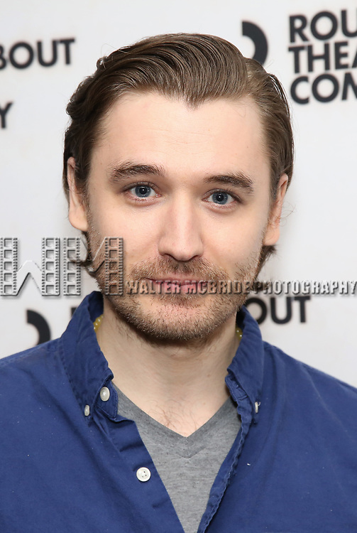 "Seth Numrich attends the ""Travesties"" Meets The Press on March 6, 2018 at the Roundabout Theatre in New York City."