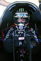 May 17, 2015; Commerce, GA, USA; NHRA top fuel driver Brittany Force during the Southern Nationals at Atlanta Dragway. Mandatory Credit: Mark J. Rebilas-USA TODAY Sports