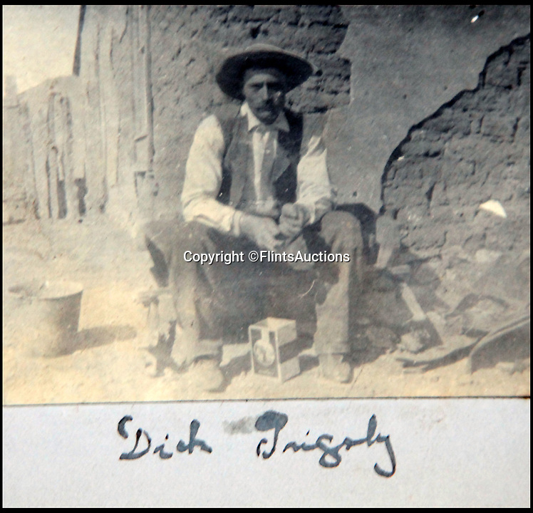 BNPS.co.uk (01202 558833)<br /> Pic: FlintsAuctions/BNPS<br /> <br /> Unseen album reveals the life of a cowboy in the real wild west...<br /> <br /> Fascinating previously unseen early photos of cowboys in the Wild West have come to light 130 years later.<br /> <br /> They show life on the ranches of Colorado and New Mexico in the vast expanses of the south west US in the 1880s.<br /> <br /> One dramatic image captures the thrilling moment a group of cowboys ride towards the camera with hats held aloft.<br /> <br /> The photos are thought to have been taken by a British farmhand who travelled Stateside in the late 19th century to earn a living.