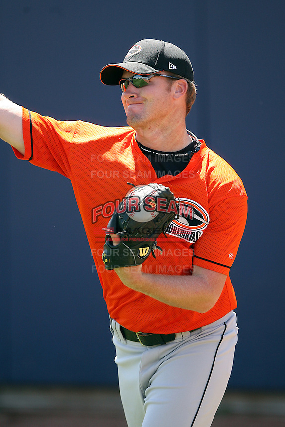 June 11th 2008:  Robert Neigebauer of the Delmarva Shorebirds, Class-A affiliate of the Baltimore Orioles, during a game at Classic Park in Eastlake, OH.  Photo by:  Mike Janes/Four Seam Images