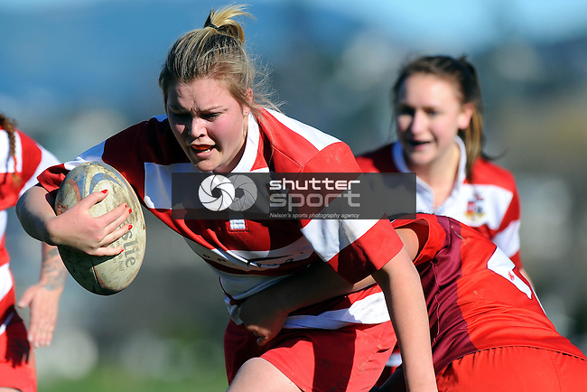 Senior Women`s Club Rugby Finals. Featuring Waimea Old Boys, Marist, Stoke and Riwaka. Neale Park, Nelson, New Zealand. Saturday 19 July 2014. Photo Chris Symes/www.shuttersport.co.nz