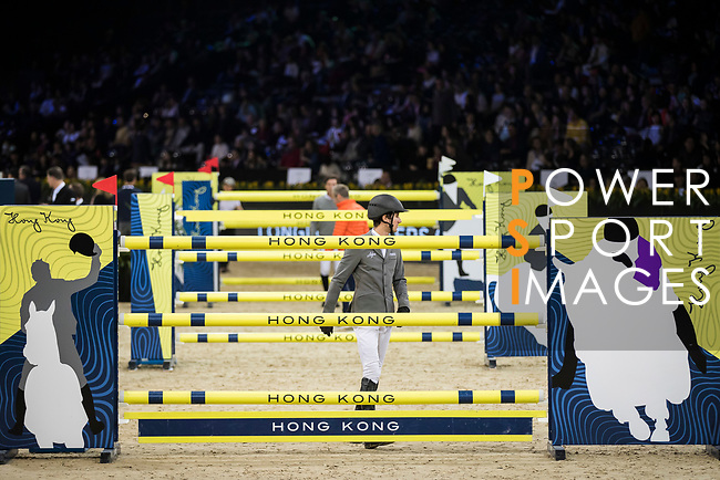 Walk the Course prior to the Longines Grand Prix during the Longines Masters of Hong Kong at AsiaWorld-Expo on 11 February 2018, in Hong Kong, Hong Kong. Photo by Ian Walton / Power Sport Images