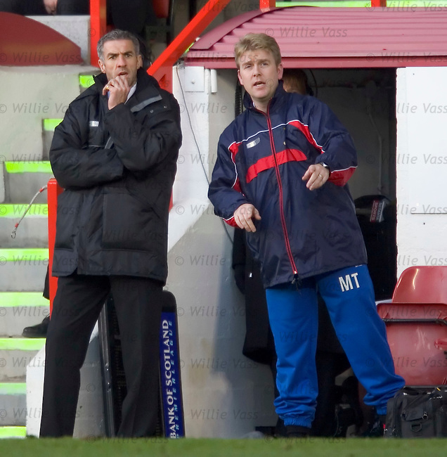 Craig Brewster and Malcolm Thompson, Inverness Caledonian Thistle.stock season 2004-2005.pic willie vass