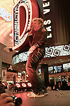Zowie Bowie, performs on Fremont Street Saturday night 02-23-2013