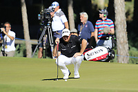 Shane Lowry (IRL) on the 16th green during Friday's Round 2 of the 2018 Turkish Airlines Open hosted by Regnum Carya Golf &amp; Spa Resort, Antalya, Turkey. 2nd November 2018.<br /> Picture: Eoin Clarke | Golffile<br /> <br /> <br /> All photos usage must carry mandatory copyright credit (&copy; Golffile | Eoin Clarke)