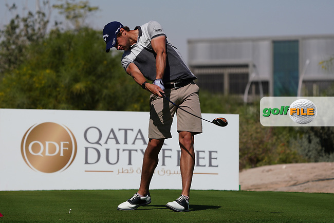 Thomas Detry (BEL) on the 2nd during the Pro-Am of the Commercial Bank Qatar Masters 2020 at the Education City Golf Club, Doha, Qatar . 04/03/2020<br /> Picture: Golffile | Thos Caffrey<br /> <br /> <br /> All photo usage must carry mandatory copyright credit (© Golffile | Thos Caffrey)