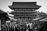 Visitors pray near the Sensoji Temple on Tuesday Feb. 7, 2017 in Asakusa, Japan.<br /> Photo by Kevin Clifford/Nevada Photo Source