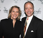 Douglas McGrath with wife Jane Read Martin  attending the Opening Celebration for 'Checkers' at the Vineyard Theatre in New York City on 11/11/2012