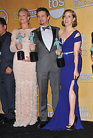 Elisabeth Rohm, Jeremy Renner &amp; Amy Adams at the 20th Annual Screen Actors Guild Awards at the Shrine Auditorium.<br /> January 18, 2014  Los Angeles, CA<br /> Picture: Paul Smith / Featureflash
