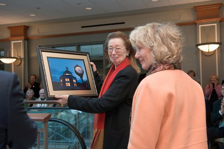 Baker Center Dedication...President McDavis, Presentation to Baker's Daughters