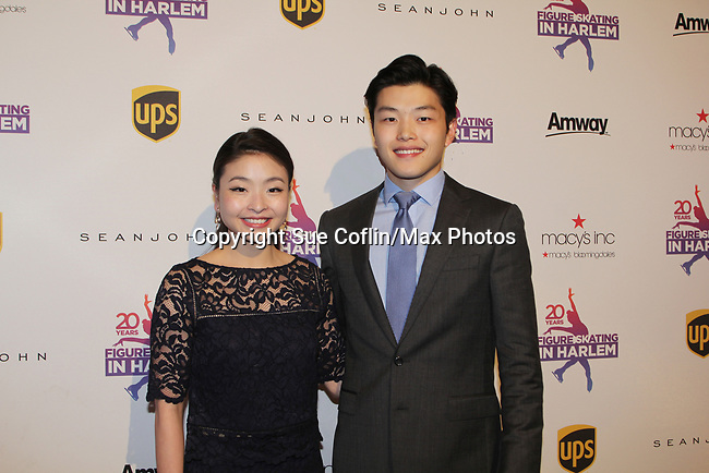 Maia and Alex Shibutani - Figure Skating in Harlem celebrates 20 years - Champions in Life benefit Gala on May 2, 2017 in New York Ciry, New York.   (Photo by Sue Coflin/Max Photos)