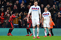 Lys Mousset of AFC Bournemouth left celebrates scoring the second goal with Jordon Ibe of AFC Bournemouth during AFC Bournemouth vs Stoke City, Premier League Football at the Vitality Stadium on 3rd February 2018