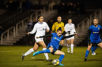 Seattle, WA - Thursday, March, 08, 2018: Nahomi Kawasumi during a preseason match between the Seattle Reign FC and University of Washington at Husky Soccer Stadium.