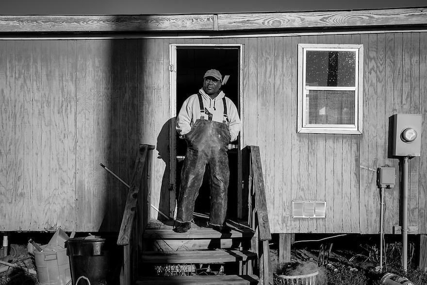 Ed Atkins, hangs out at his bait shop, one of the oldest businesses in Beaufort County.