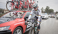 World Champion Peter Sagan (SVK/Bora-Hansgrohe) is having a bad day on the bike (after being sick for 3 days). He would abandon the race at the feed zone.<br /> <br /> 11th Strade Bianche 2017