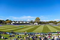 General view during Day 3 of the Second International Cricket Test match, New Zealand V England, Hagley Oval, Christchurch, New Zealand, 1st April 2018.Copyright photo: John Davidson / www.photosport.nz