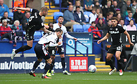 Leeds United's Liam Cooper and Bolton Wanderers' Adam Le Fondre<br /> <br /> Photographer Rachel Holborn/CameraSport<br /> <br /> The EFL Sky Bet Championship - Bolton Wanderers v Leeds United - Sunday 6th August 2017 - Macron Stadium - Bolton<br /> <br /> World Copyright &copy; 2017 CameraSport. All rights reserved. 43 Linden Ave. Countesthorpe. Leicester. England. LE8 5PG - Tel: +44 (0) 116 277 4147 - admin@camerasport.com - www.camerasport.com