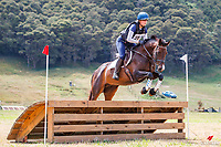 Sophie Boswell rides Anastasia during the Cross Country for Class 2A NZPCA 95cm. Final-1st. 2019 NZL-Hunua Pony Club 2DE. Proudly Sponsored by Golden Horse Feeds and Christophe Pallies. Sunday 3 February. Copyright Photo: Libby Law Photography