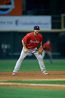 Pawtucket Red Sox third baseman Jantzen Witte (35) during an International League game against the Rochester Red Wings on June 28, 2019 at Frontier Field in Rochester, New York.  Pawtucket defeated Rochester 8-5.  (Mike Janes/Four Seam Images)
