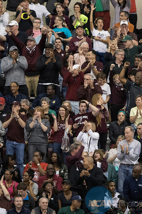 COLLEGE STATION, TX - MARCH 11: Texas A&M fans during the Division I Men's and Women's Indoor Track & Field Championship held at the Gilliam Indoor Track Stadium on the Texas A&M University campus on March 11, 2017 in College Station, Texas. (Photo by Michael Starghill/NCAA Photos/NCAA Photos via Getty Images)