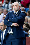 Real Madrid coach Pablo Laso during Turkish Airlines Euroleague match between Real Madrid and Kirolbet Baskonia at Wizink Center in Madrid, Spain. October 19, 2018. (ALTERPHOTOS/Borja B.Hojas)
