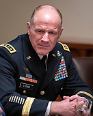 United States Army General Stephen R. Lyons, commander of the United States Transportation Command, participates in a briefing with US President Donald J. Trump and senior military leaders in the Cabinet Room of the White House in Washington, DC on Monday, October 7, 2019.<br /> Credit: Ron Sachs / Pool via CNP