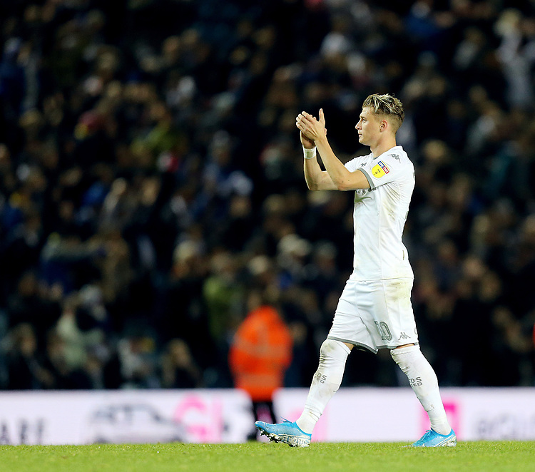 Leeds United's Ezgjan Alioski applauds the fans at the final whistle<br /> <br /> Photographer Rich Linley/CameraSport<br /> <br /> The EFL Sky Bet Championship - Tuesday 1st October 2019  - Leeds United v West Bromwich Albion - Elland Road - Leeds<br /> <br /> World Copyright © 2019 CameraSport. All rights reserved. 43 Linden Ave. Countesthorpe. Leicester. England. LE8 5PG - Tel: +44 (0) 116 277 4147 - admin@camerasport.com - www.camerasport.com