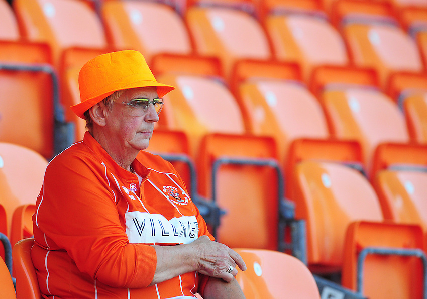 Blackpool fans enjoy the pre-match build up<br /> <br /> Photographer Kevin Barnes/CameraSport<br /> <br /> Football - The EFL Sky Bet League Two - Blackpool v Exeter City - Saturday 6th August 2016 - Bloomfield Road - Blackpool<br /> <br /> World Copyright © 2016 CameraSport. All rights reserved. 43 Linden Ave. Countesthorpe. Leicester. England. LE8 5PG - Tel: +44 (0) 116 277 4147 - admin@camerasport.com - www.camerasport.com