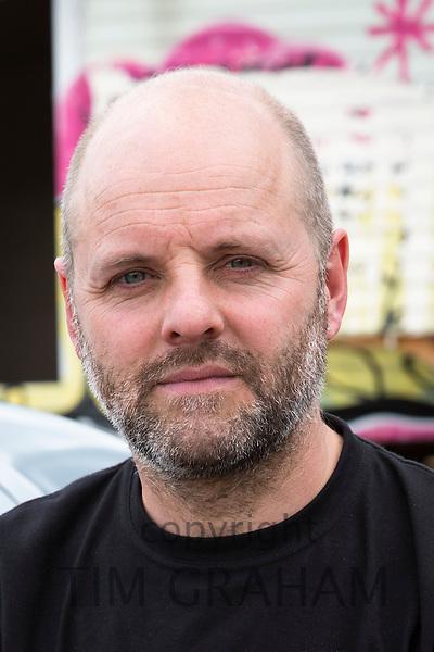 Gavin Turk, artist, near his East London studio, United Kingdom