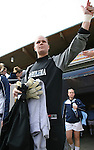 3 December 2006: North Carolina's Ashlyn Harris slaps hands with a fan before the game. The University of North Carolina Tarheels defeated the University of Notre Dame Fighting Irish 2-1 at SAS Stadium in Cary, North Carolina in the NCAA Division I Women's College Cup championship game.