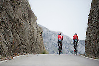coming up from Sa Calobra<br /> <br /> <br /> Lotto-Belisol jan 2014 trainingcamp<br /> Mallorca