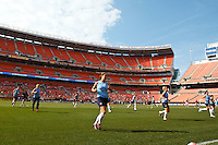 22 MAY 2010:  The USA WNT warms up prior to the International Friendly soccer match between Germany WNT vs USA WNT at Cleveland Browns Stadium in Cleveland, Ohio on May 22, 2010.
