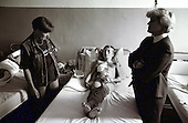 In the town of Zenica, a'Nurse is talking to a young boy hit by shrapnel.Photo:Thomas Sjørup © 2006