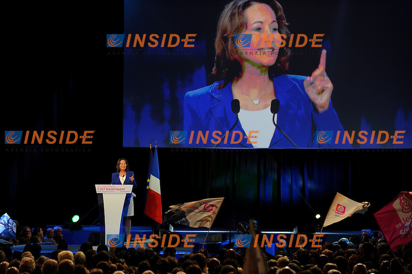 Segolene Royal .Rennes 5/4/2012.Campagna elettorale Partito Socialista Presidenziali Francia 2012.Foto Insidefoto / Christian Liewig / FEP/ Panoramic.ITALY ONLY.