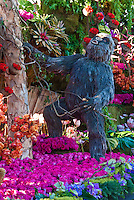 Rain Bird, Rose Parade  Float, Mountaintop Majesty showcased a family of Mountain Gorillas, native to the high mountains of Rwanda in central Africa