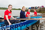 Sneem rowers Asha fayen, Leah Turner, Stacey Rigte and Michaela Mulcahy launching at the Callinafercy Regatta on Sunday