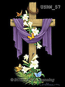 Randy, EASTER RELIGIOUS, OSTERN RELIGIÖS, PASCUA RELIGIOSA, paintings+++++Draped-Cross-on-black,USRW57,#ER#