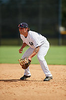 New York Yankees first baseman Brandon Wagner (29) during an Instructional League game against the Baltimore Orioles on September 23, 2017 at the Yankees Minor League Complex in Tampa, Florida.  (Mike Janes/Four Seam Images)
