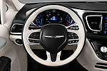 Car pictures of steering wheel view of a 2017 Chrysler Pacifica-Hybrid Platinum 5 Door Minivan Steering Wheel